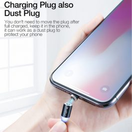 Cable Magnético Rojo Micro Usb Android, Carga rápida, 1M